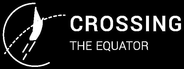 Crossing the Equator Logo all white over transparent background